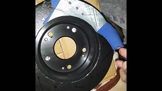 Painted drill and slotted rotors for 2007 Honda accord