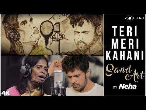 Download Lagu  Teri Meri Kahani Sand Art By Neha Umak | Happy Hardy And Heer | Himesh Reshammiya & Ranu Mondal Mp3 Free