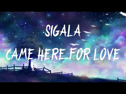 sigala,-ella-eyre---came-here-for-love-(lyrics-/-lyric-video)