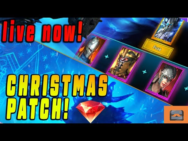 NEW FUSION! LIVE TESTING OF NEW CHRISTMAS UPDATE! | Raid: Shadow Legends