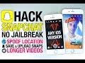Crazy Snapchat Hack 2016! No Jailbreak & Free