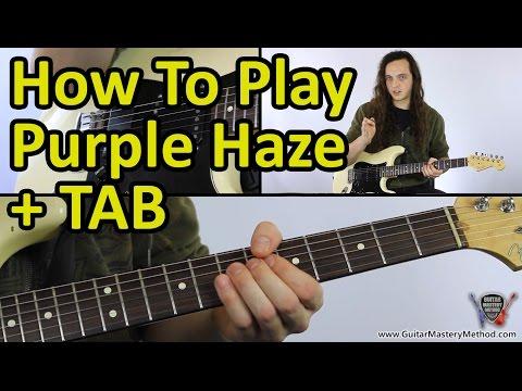 How to play Purple Haze - Jimi Hendrix Guitar Lesson + TAB