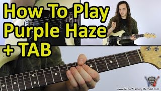 How to play Purple Haze - Jimi Hendrix Guitar Lesson + TAB
