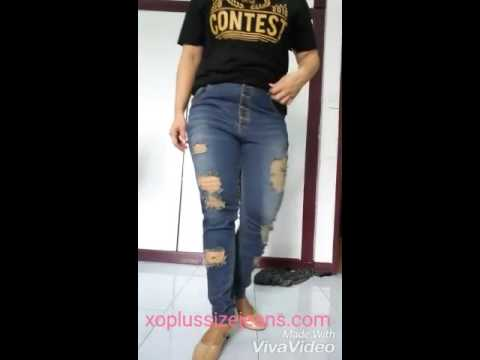 เสื้อผ้าคนอ้วน กางเกงยีนส์ไซส์ใหญ่ รหัส 41 ร้าน XO Dresser