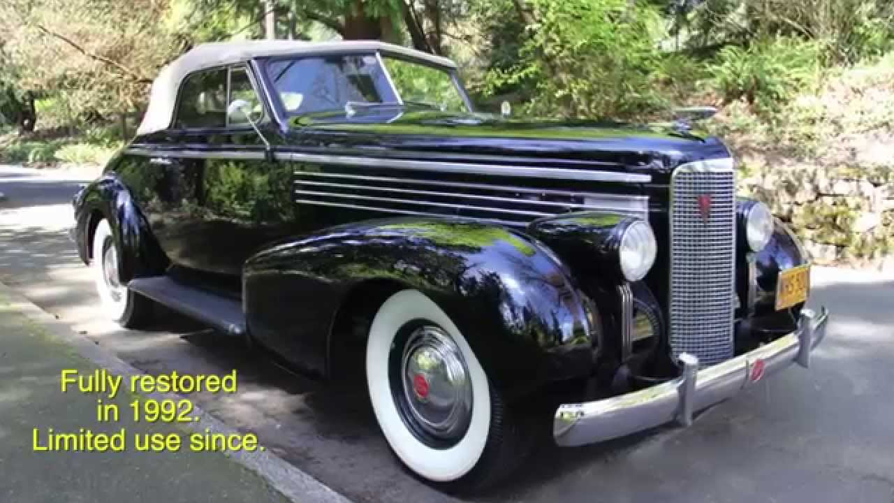 1938 LaSalle Convertible Charvet Classic Cars  YouTube