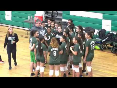 SectionXI Semi-Finals Girls Volleyball Brentwood South vs North