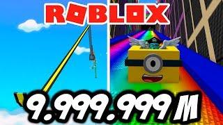 A TOBOGON OF 999.999,999 METERS IN ROBLOX 🎿