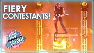 FIERY Acts On Got Talent, X Factor And Idols! | Top Talent