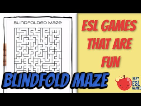 Blindfolded Maze A Great Way To Teach Giving Directions Easy Esl