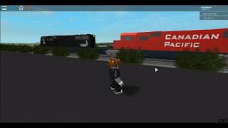 Jugando (SST) Railfanning The City Of Montreal en Roblox: IC & CP Freight Train