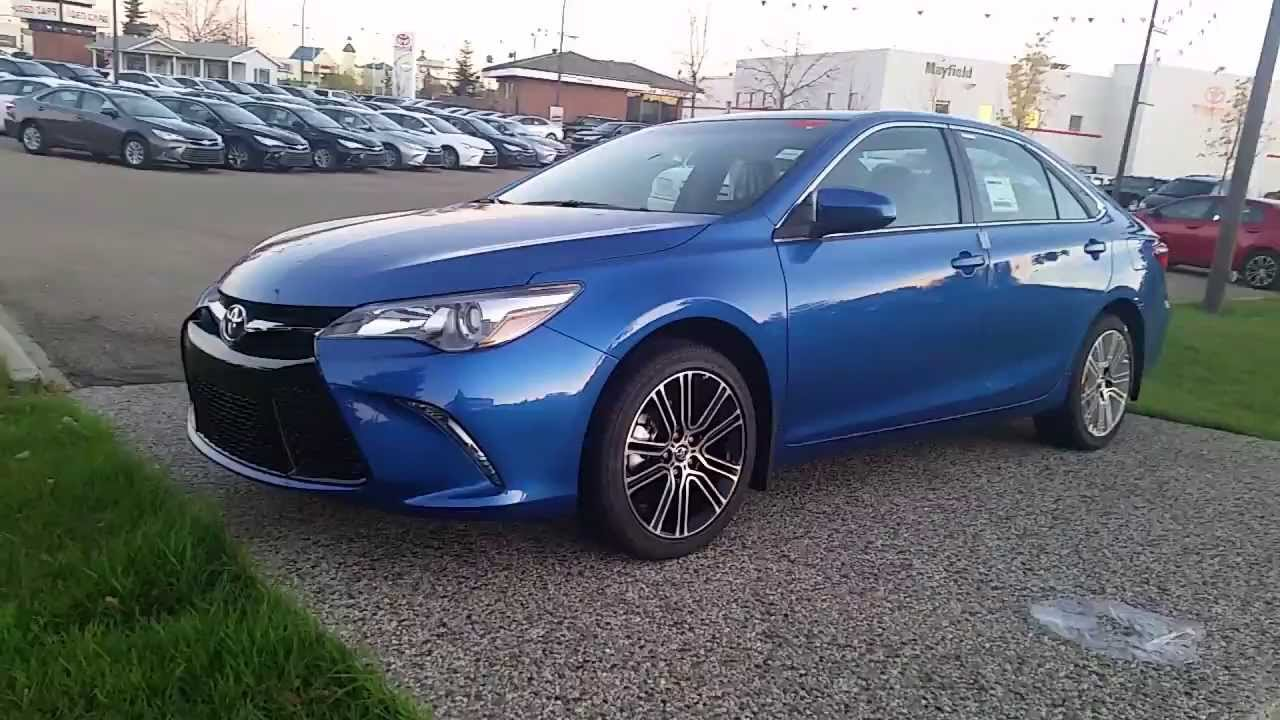 2016 toyota camry se special edition in 08t7 blue streak metallic walk around and review youtube. Black Bedroom Furniture Sets. Home Design Ideas