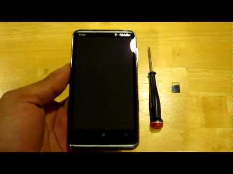 HTC HD7 HOW TO UPGRADE MEMORY EASY 32gb to 64gb Warranty