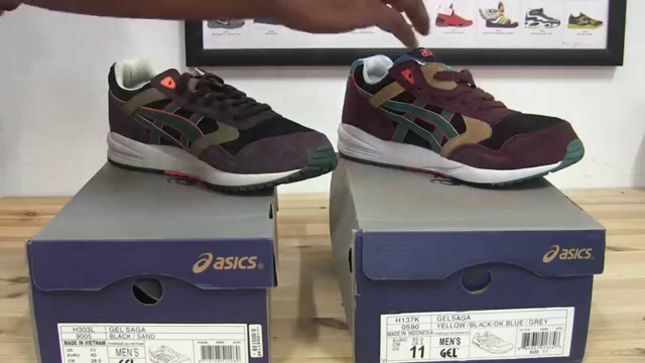 asics gel saga fake