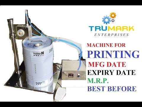 Table top batch coding machine - pneumatic model
