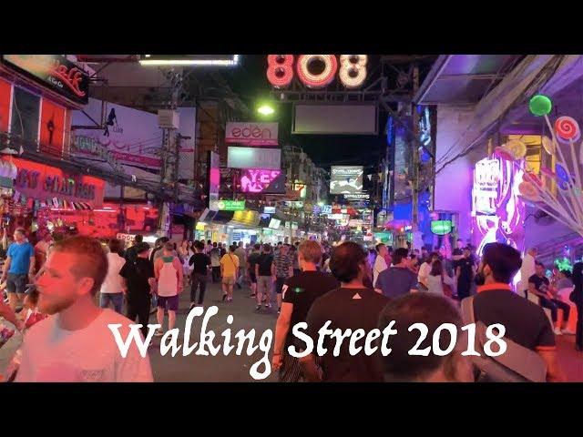 Walking Street Pattaya 2018 ( Волкин стрит Паттайя) Прямой эфир прогулка по волки стрит