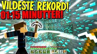 JEG FINDER DIAMONDS PÅ REKORD TID!! (01:15 MINUTTER!!) - Minecraft Speedrun #3