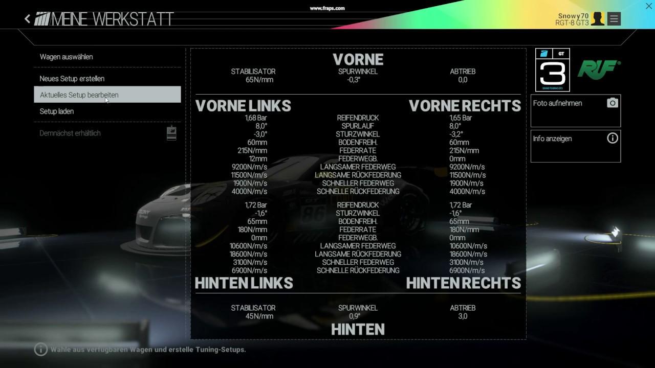Project Cars Setup für die Nordschleife Porsche RUF 911 GT3 - YouTube