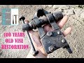 Is it world's smallest blacksmith vise? 100 years old vise restoration