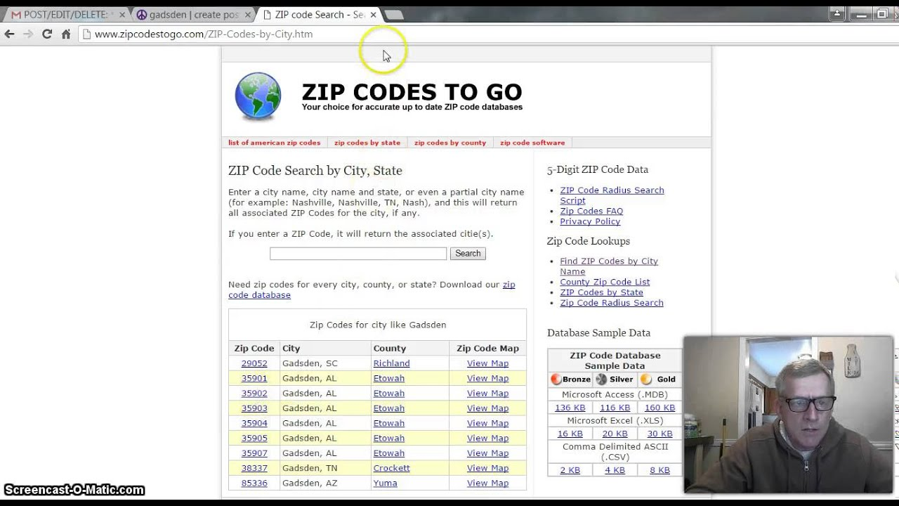 Craigslist Posting  And  With Mark Bosley YouTube - Us zip codes list all