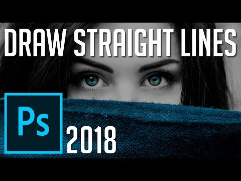 How to Draw Straight and Use Guide Lines | Photoshop CC 2018 Tutorial thumbnail
