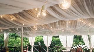 Гирлянда из ламп на свадьбе в KNZS