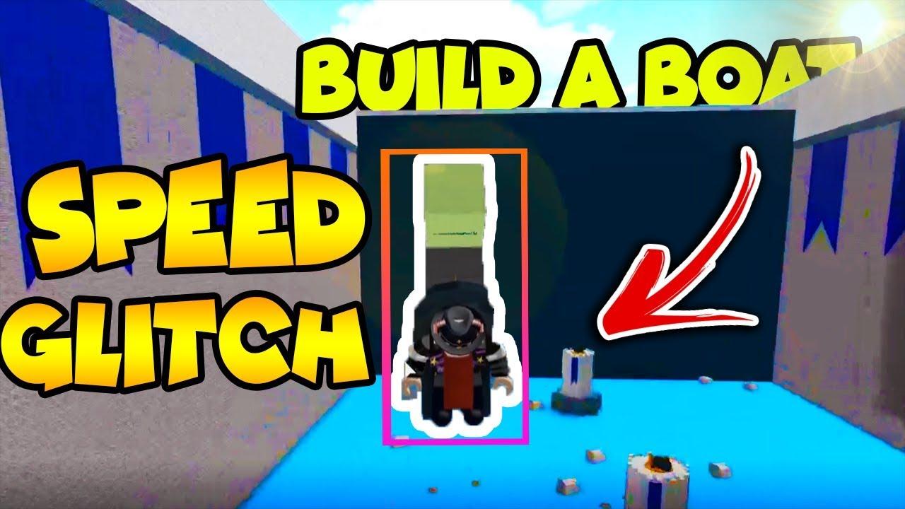 Speed Glitch Build A Boat For Treasure Roblox Youtube