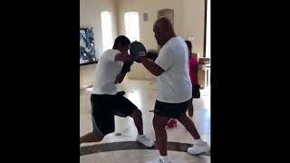 MIKE TYSON's Son Miguel Tyson in Training -- Looks Like He's Got Mike's Skills [VIDEO]