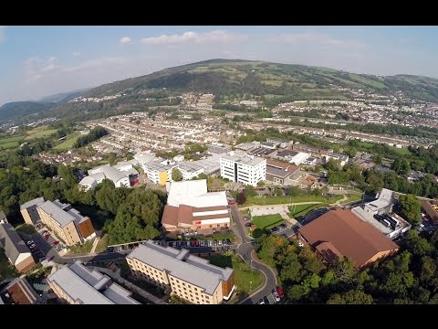 Pontypridd Campus Aerial Tour - University of South Wales