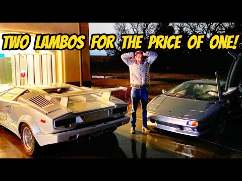 The Lamborghini Find Of A Lifetime (I Bought The Cheapest Countach & Diablo AT THE SAME TIME)