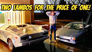 homepage tile video photo for The Lamborghini Find Of A Lifetime (I Bought The Cheapest Countach & Diablo AT THE SAME TIME)
