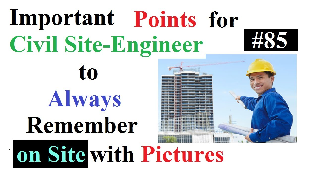 Important points for civil Site-engineer to always remember on site with  pictures in Urdu/Hindi