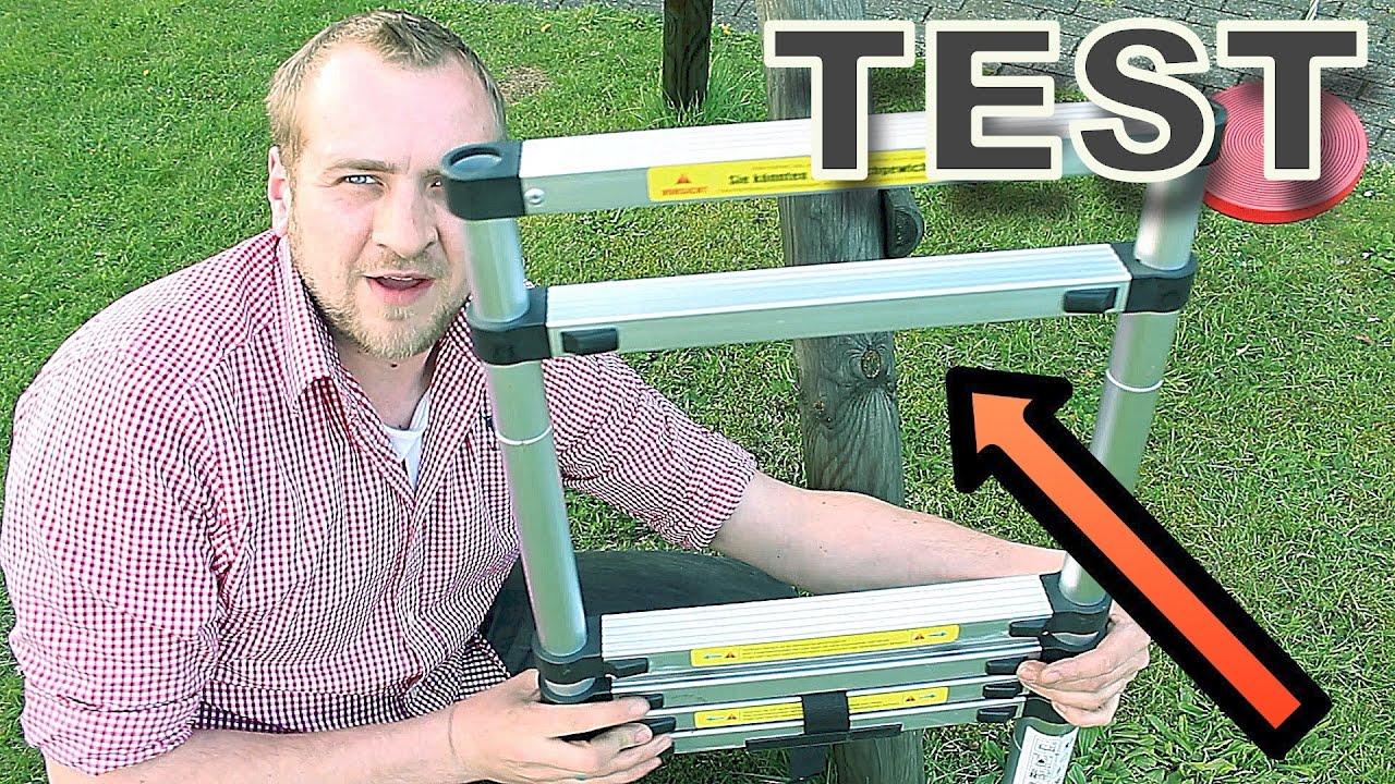 Teleskopleiter test ⚠ unfall gefahr bei falscher nutzung