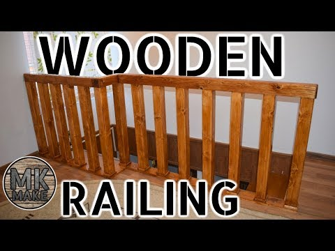 DIY Wooden Railing | With The Ability To Open A Badly Placed Window Next To It