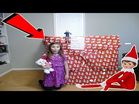 Huge present From My Elf On The Shelf! Elf On The Shelf Present Scavenger Hunt!