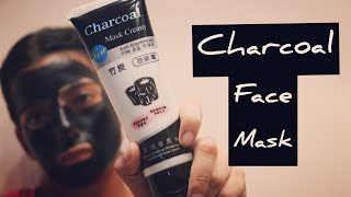 Charcoal peel off mask try on +Reviews and beauty tips in Hindi