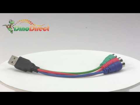 18cm USB to 3 RCA Video Converter Cable for PSP  from Dinodirect.com