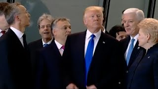 Trump Scolds European Leaders During NATO Speech, Shoves Prime Minister Dusko Markovic Aside