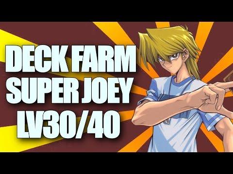 DECK PARA FARMAR O SUPER JOEY LV30/40 - YUGIOH DUEL LINKS