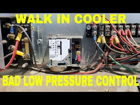 how to add freon or refrigerant to a walk in cooler or freezer withwalk in cooler low pressure control problems