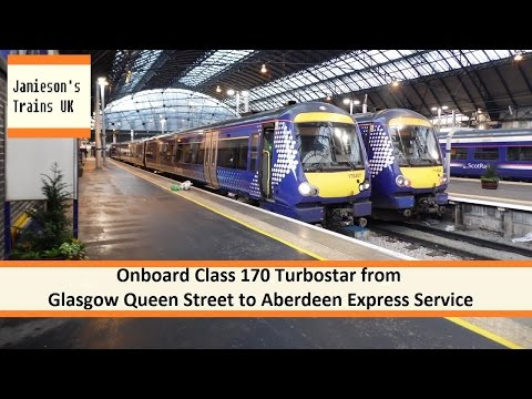 Onboard Class 170 Turbostar from Glasgow Queen Street to Aberdeen Express Service
