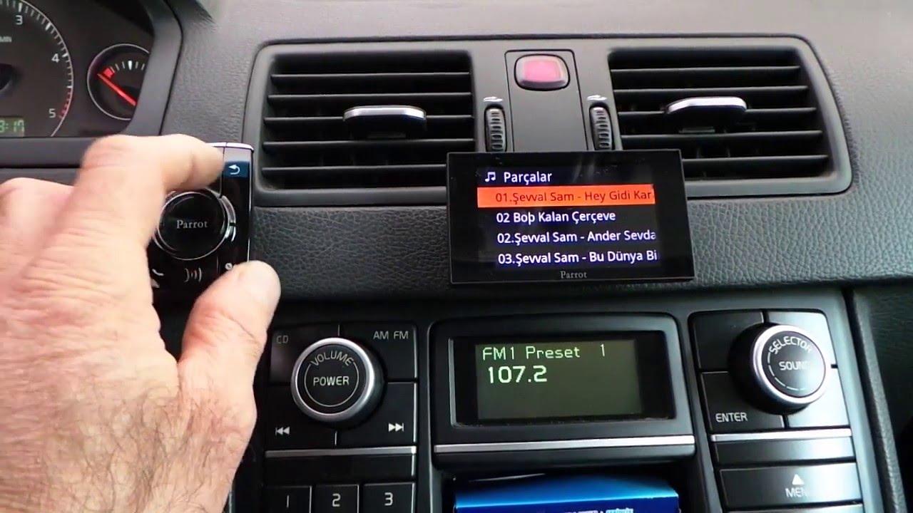 Volvo XC90 Parrot Asteroid Mini bluetooth araç kiti uygulaması - YouTube