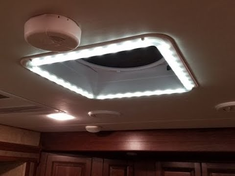 Heng S Rv Chandelier Vent Trim And Led Light Kit Install