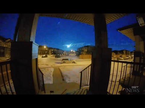 Surveillance cameras capture meteor in Alberta
