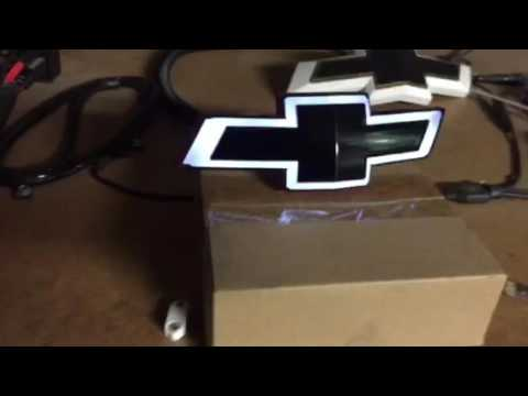 2014 2016 Camaro Front Lighted Bow Tie Youtube