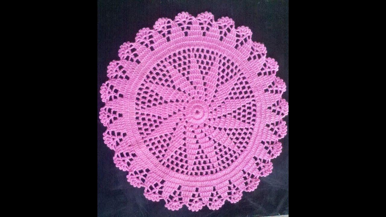 Como hacer un tapete o carpeta a crochet en espa ol 1 for Tapetes de crochet