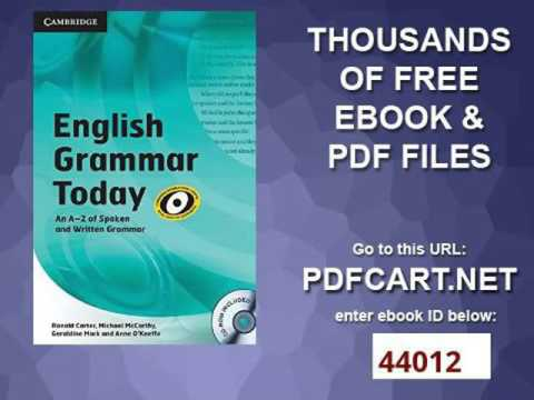 CAMBRIDGE ENGLISH GRAMMAR TODAY EBOOK