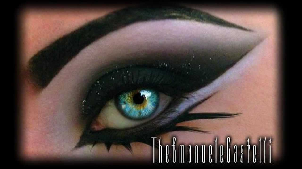Arabic Black Smoky Eyes Glitter Dramatic Make