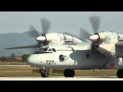 Croatian Air Force, Antonov An-32 take off, Zagreb, Croatia