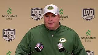 #Packers Head Coach Mike McCarthy interview 🎥  on Ty Montgomery's fumble