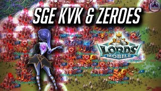 SGE KVK & Big Zeroes In War Gears - Lords Mobile